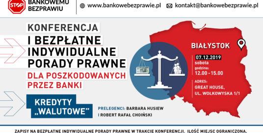 """Konferencja dotycząca tzw. kredytów """"frankowych"""""""